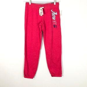 Aerospostale Classic Cinch Pink Sweat Pants- M